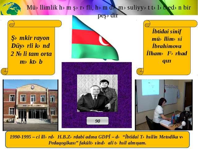 Şəmkir rayon Düyərli kənd 2 № li tam orta məktəb İbtidai sinif müəlliməsi İb...