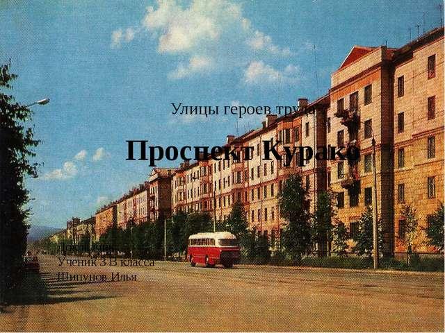 Улицы героев труда Проспект Курако Докладчик: Ученик 3 В класса Шипунов Илья