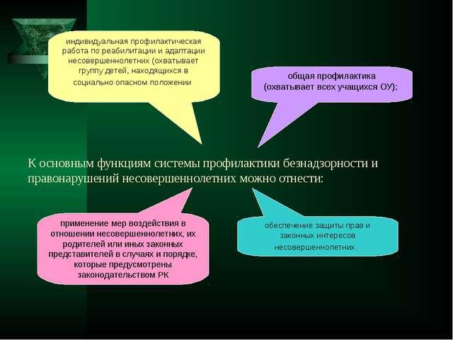 К основным функциям системы профилактики безнадзорности и правонарушений несо...