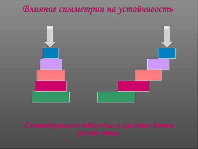 Симметричные объекты и здания более устойчивы.