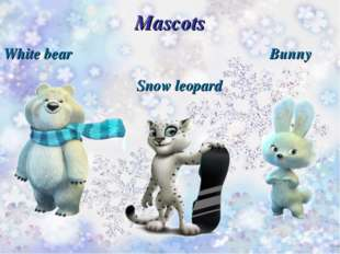 Mascots White bear Snow leopard Bunny