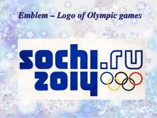 Emblem – Logo of Olympic games