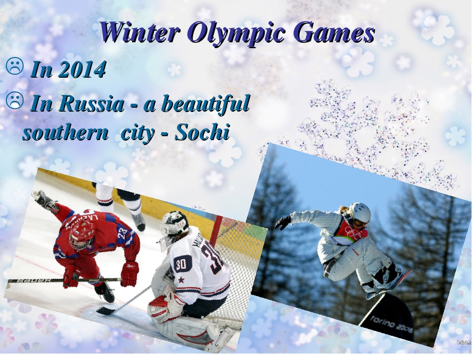 Winter Olympic Games In 2014 In Russia - a beautiful southern city - Sochi