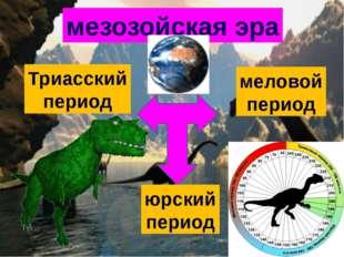 мезозойская эра Триасский период меловой период юрский период