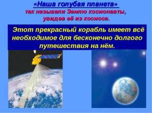 «Наша голубая планета» так называли Землю космонавты, увидев её из космоса. Э