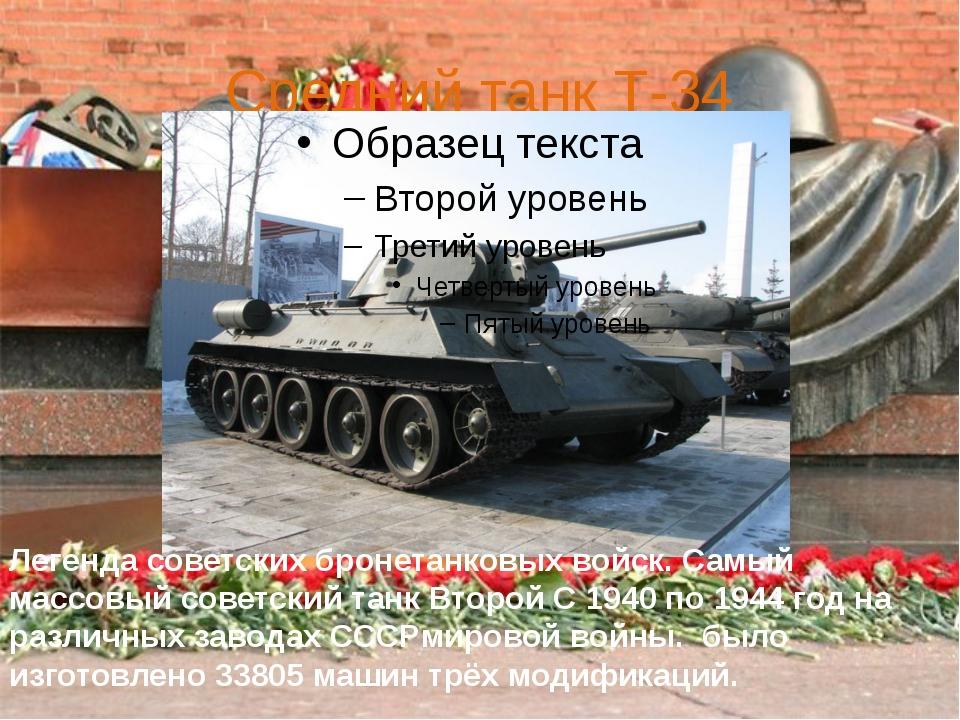 Средний танк Т-34 Легенда советских бронетанковых войск. Самый массовый совет...