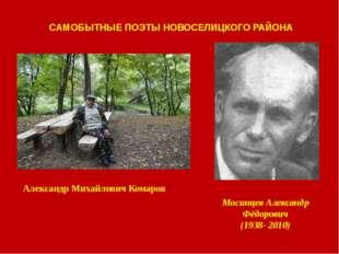 САМОБЫТНЫЕ ПОЭТЫ НОВОСЕЛИЦКОГО РАЙОНА Александр Михайлович Комаров Мосинцев А