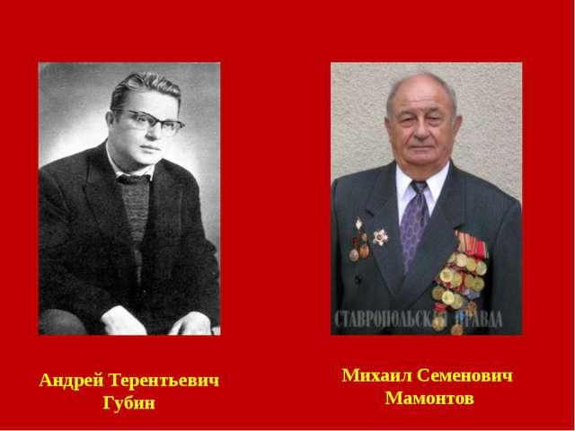 Андрей Терентьевич Губин Михаил Семенович Мамонтов