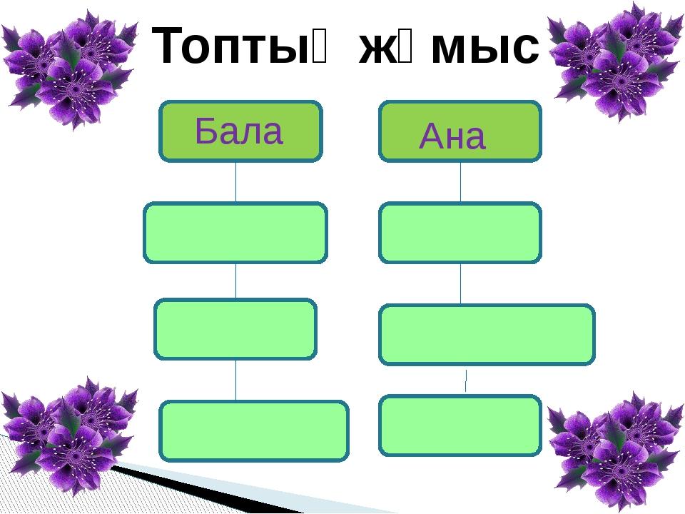 Бала Ана Топтық жұмыс