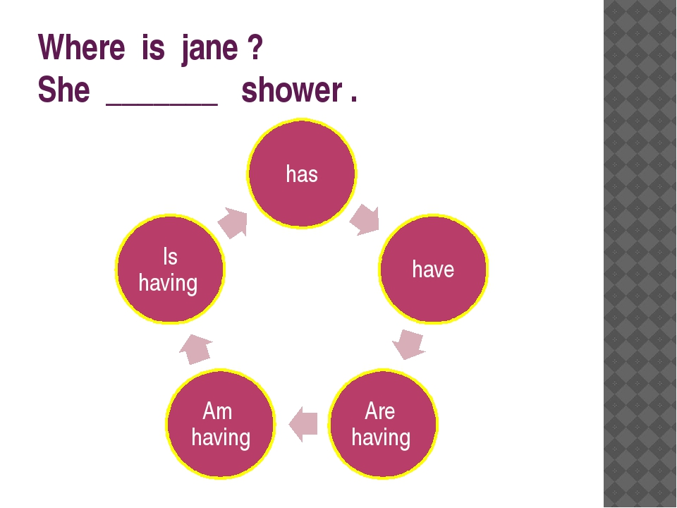Where is jane ? She _______ shower .
