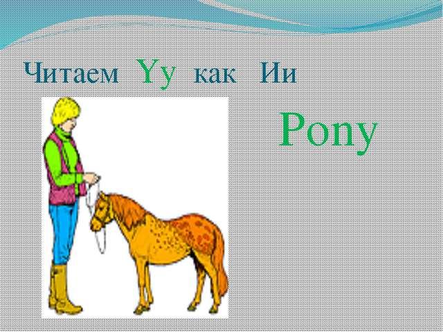 Читаем Yy как Ии Pony