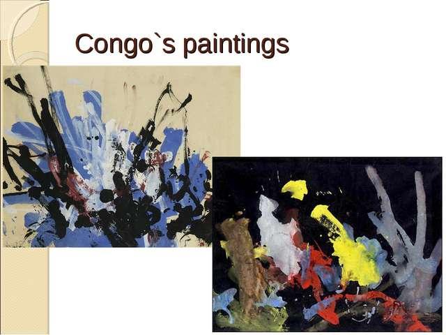 Congo`s paintings