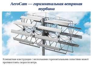 AeroCam — горизонтальная ветряная турбина Компактная конструкция с нескольким