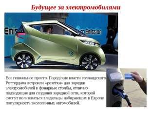 Будущее за электромобилями Все гениальное просто. Городские власти голландско