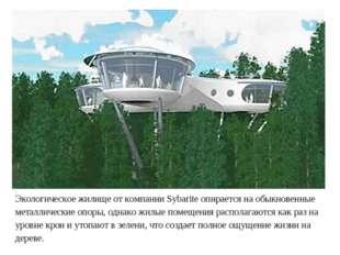 Экологическое жилище от компании Sybarite опирается на обыкновенные металличе