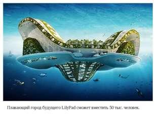 Плавающий город будущего LilyPad сможет вместить 50 тыс. человек.