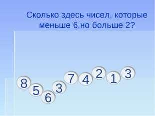 Сколько здесь чисел, которые меньше 6,но больше 2?