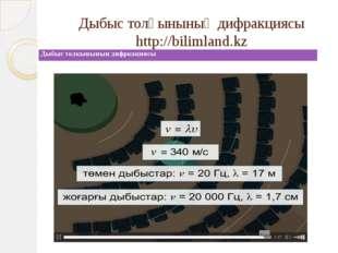 Дыбыс толқынының дифракциясы http://bilimland.kz