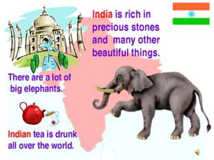 India is rich in precious stones and many other beautiful things. There are a