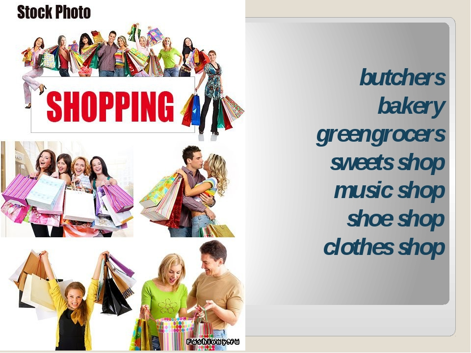butchers bakery greengrocers sweets shop music shop shoe shop clothes shop
