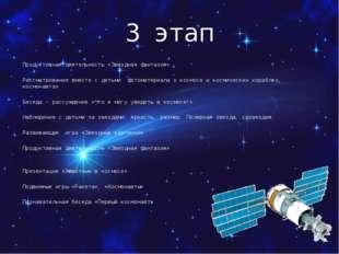 3 этап Продуктивная деятельность «Звездная фантазия» Рассматривание вместе с