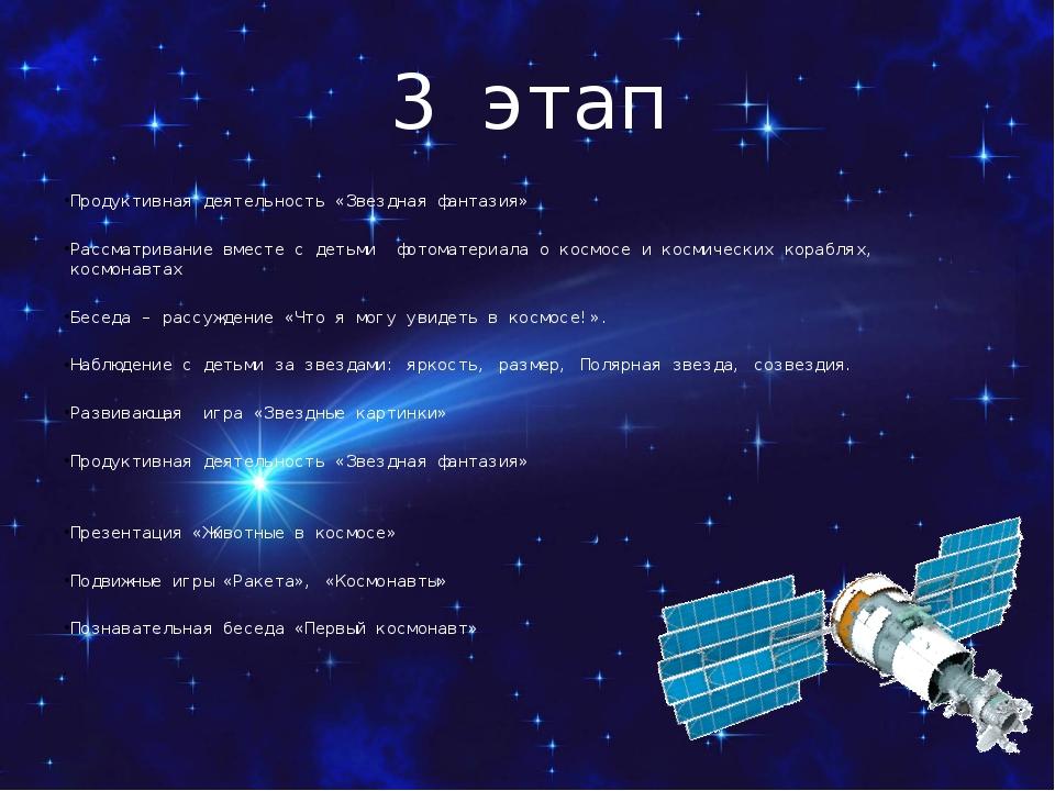 3 этап Продуктивная деятельность «Звездная фантазия» Рассматривание вместе с...