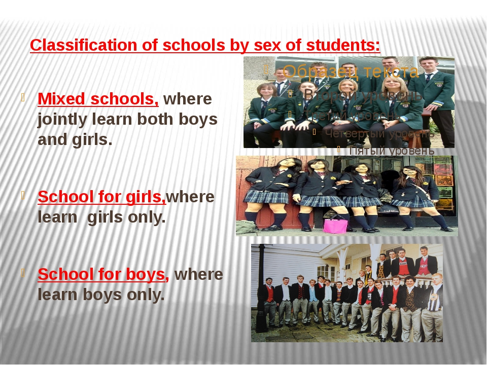Classification of schools by sex of students: Mixed schools, where jointly le...