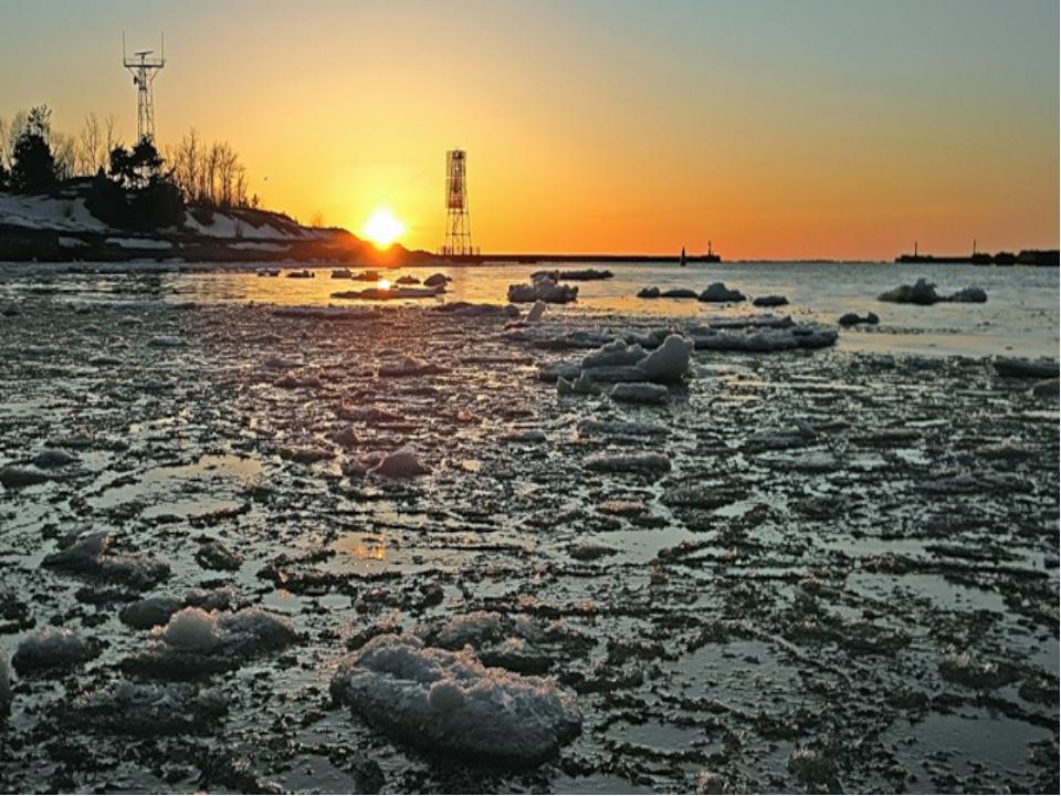 Балтийское море замерзает? Количество льдов в Балтийском море меняется от год...