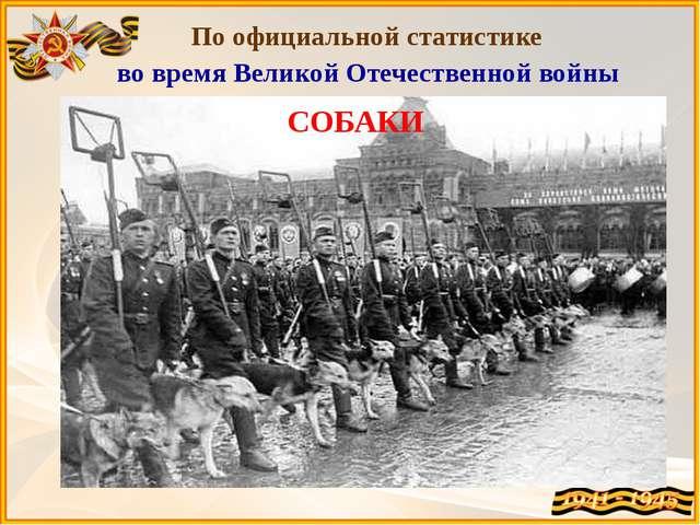 По официальной статистике во время Великой Отечественной войны СОБАКИ вытащи...