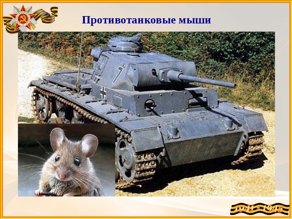 Противотанковые мыши Самых мелкокалиберных диверсантов использовали для разру...