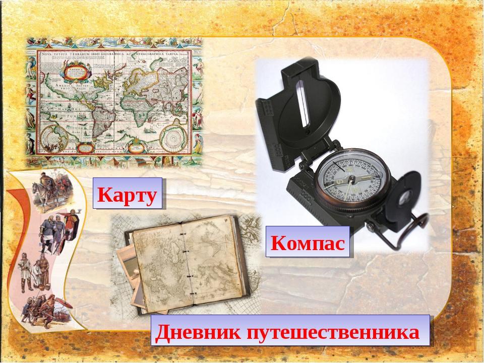 Карту Компас Дневник путешественника