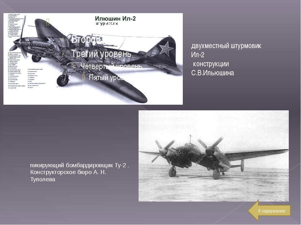 двухместный штурмовик Ил-2 конструкции С.В.Ильюшина пикирующий бомбардировщик...