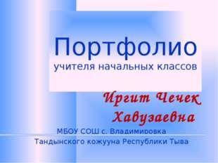 Портфолио учителя начальных классов Иргит Чечек Хавузаевна МБОУ СОШ с. Владим
