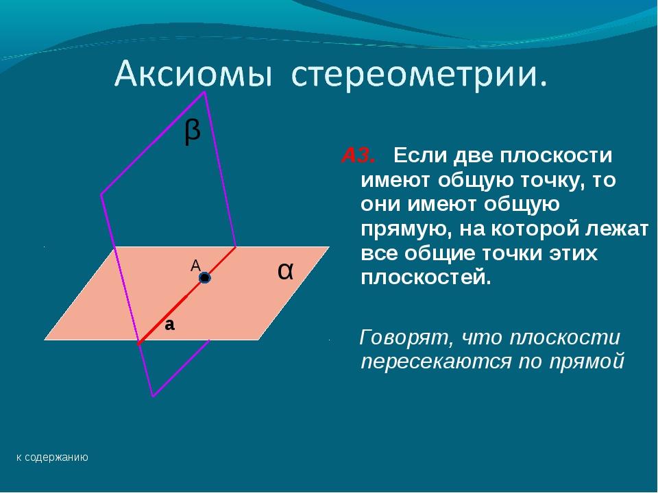 1 аксиомы стереометрии и их простейшие следствия