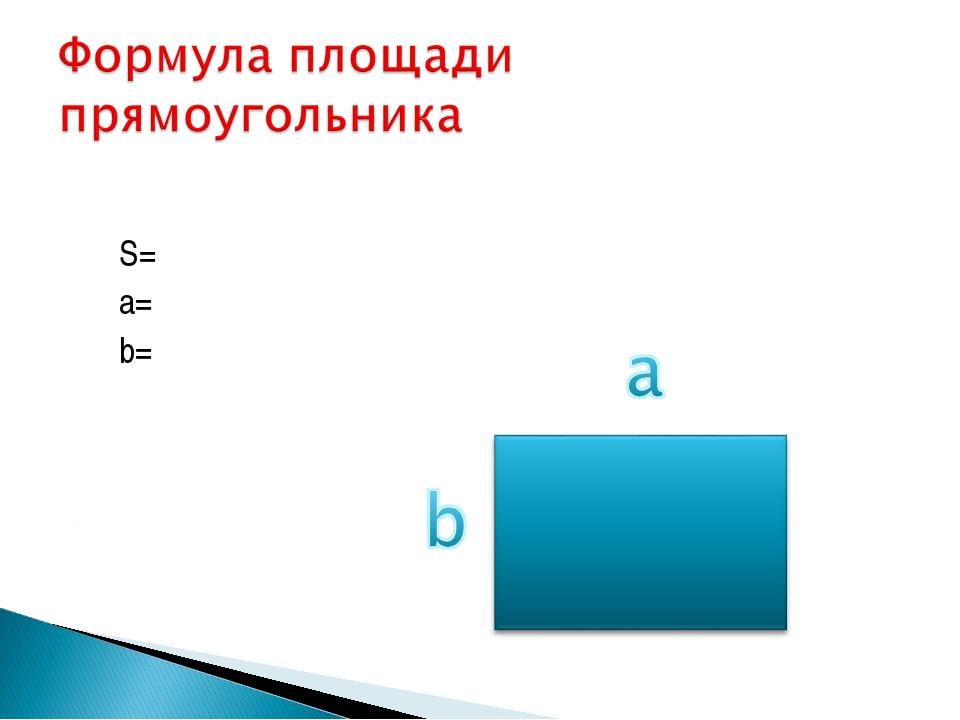 S= a= b=