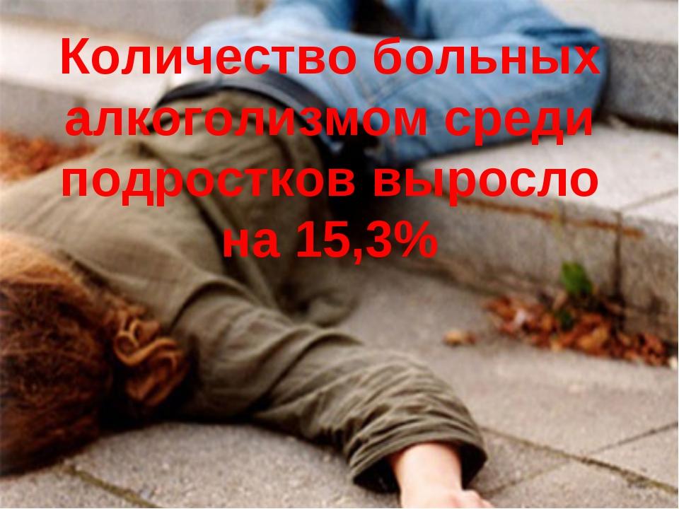 Количество больных алкоголизмом среди подростков выросло на 15,3%