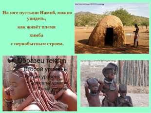На юге пустыниНамиб, можно увидеть, как живёт племя химба с первобытным стро