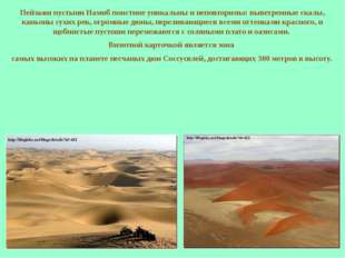 Пейзажи пустыни Намиб поистине уникальны и неповторимы: выветренные скалы, ка