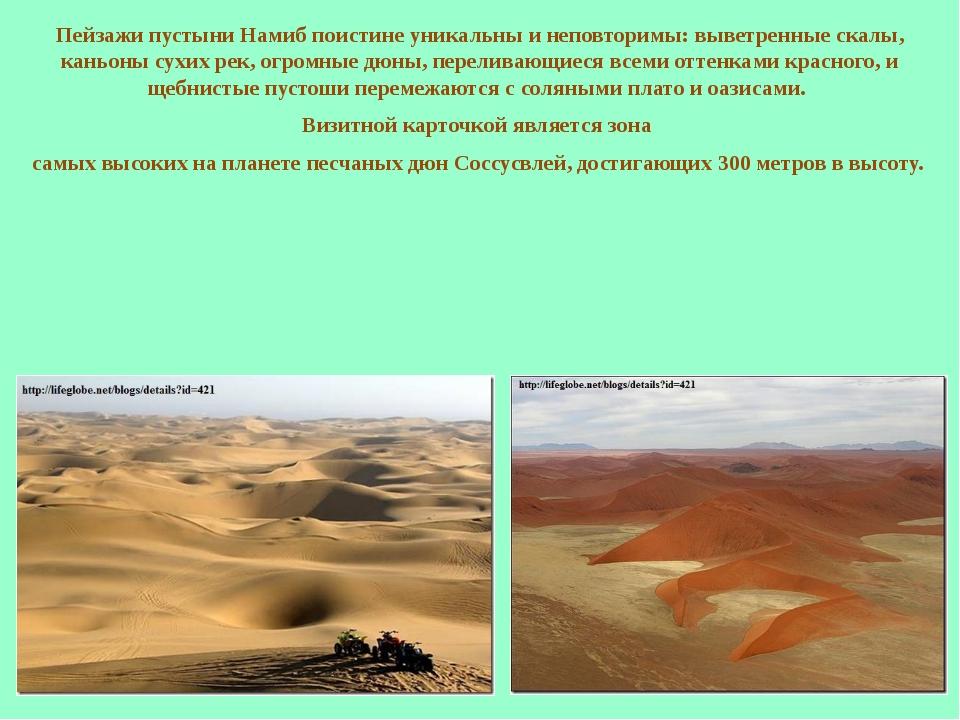 Пейзажи пустыни Намиб поистине уникальны и неповторимы: выветренные скалы, ка...
