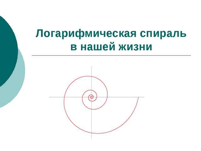 Логарифмическая спираль в нашей жизни к содержанию
