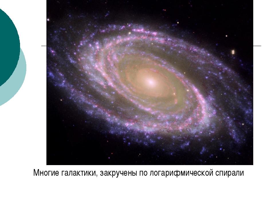Многие галактики, закручены по логарифмической спирали к содержанию