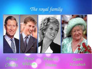 The royal family Prince Charles Prince William Princess Diana Queen Elizabeth