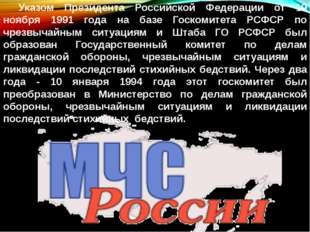 Указом Президента Российской Федерации от 19 ноября 1991 года на базе Госкоми