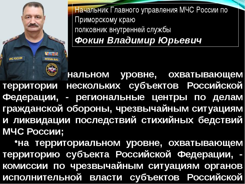 на региональном уровне, охватывающем территории нескольких субъектов Российск...
