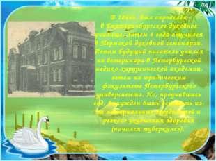В 1866г. был определён в Екатеринбургское духовное училище. Затем 4 года оту