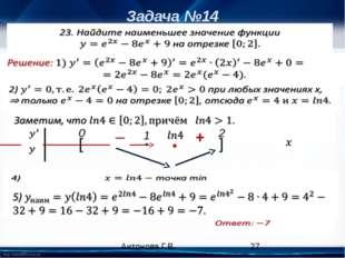 Задача №14 [ ] 0 2 • 1 • + Антонова Г.В. 3) http://linda6035.ucoz.ru/