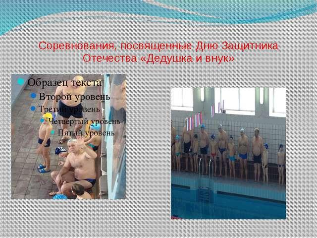 Соревнования, посвященные Дню Защитника Отечества «Дедушка и внук»