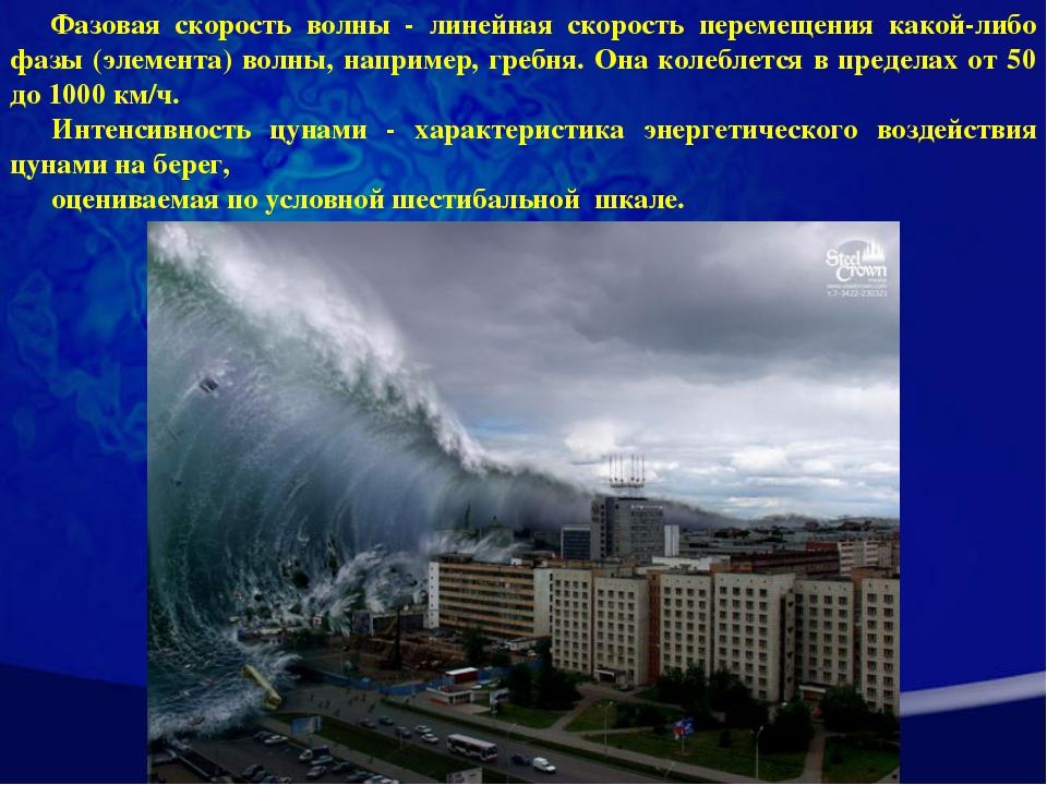 Фазовая скорость волны - линейная скорость перемещения какой-либо фазы (элеме...