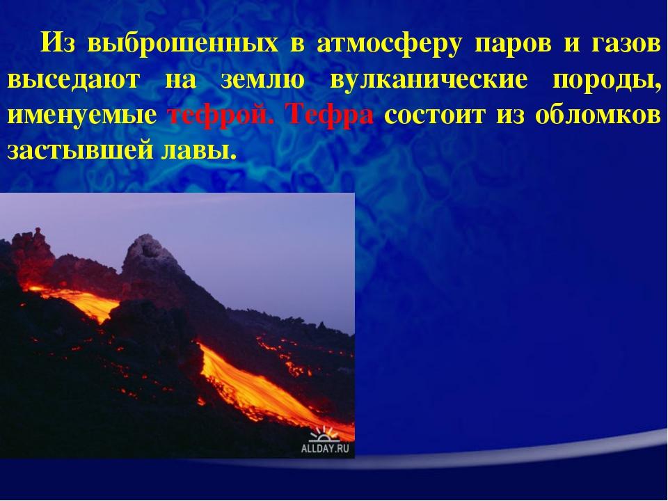 Из выброшенных в атмосферу паров и газов выседают на землю вулканические поро...