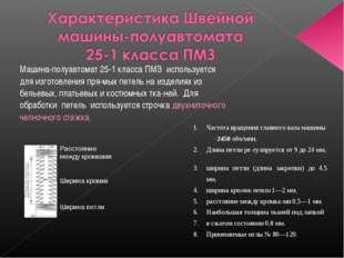 Машина-полуавтомат 25-1 класса ПМЗ используется для изготовления прямых пете